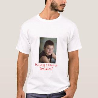 T-shirt Mise d'un visage sur le diabète !