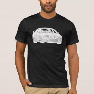 T-shirt Mitsubishi Evo - X - conception blanche électrique