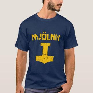 T-shirt mjolnir_golden_destroyed
