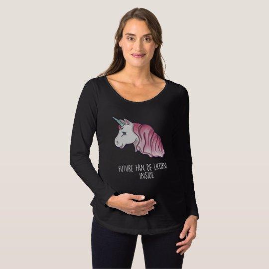 """T-shirt ML """"Future fan de licorne inside"""" noir"""