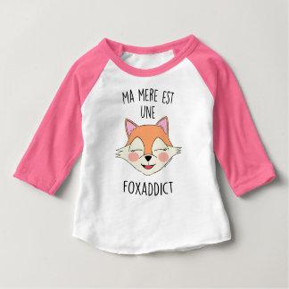 """T-shirt ML """"Ma Mère est une FoxAddict"""""""
