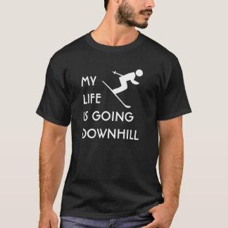 T-shirt MLIGD - Skieur - chemise noire - conception