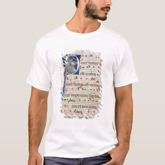 """T-shirt Mme 561 page avec """"P"""" initial historiated"""