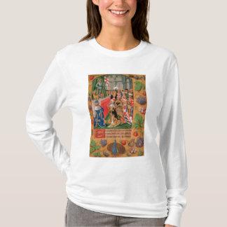 T-shirt Mme Add 25698 f.3 a illuminé la page d'un livre de