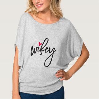 T-shirt Mme Shoppe | Wifey mignon superbe