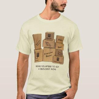 T-shirt mobile d'humour de géologue
