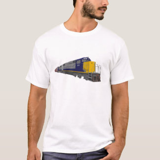 T-shirt modèle 3D : Train de fret : Chemin de fer :