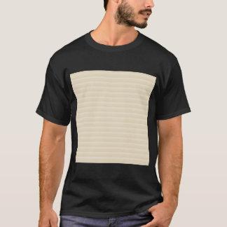 T-shirt Modèle bronzage beige de rayure de couleur