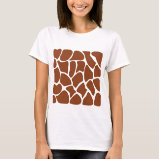 T-shirt Modèle d'impression de girafe de Brown