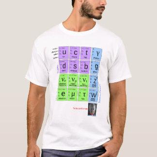 T-shirt Modèle standard des particules élémentaires avec