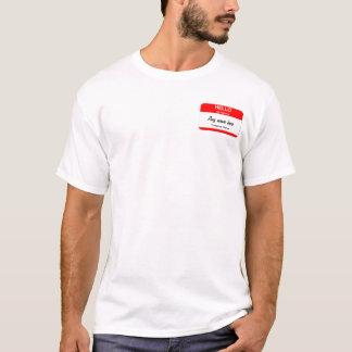 T-shirt Modèles nommés vides d'étiquette