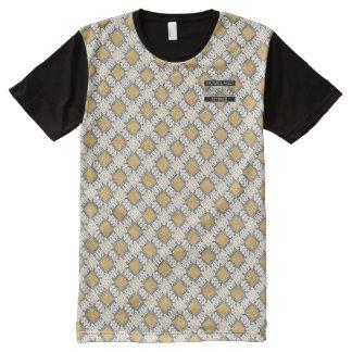 T-shirt moderne de concepteur de pois d'or de