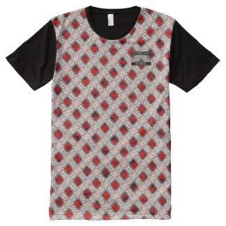 T-shirt moderne de concepteur rouge de pois de