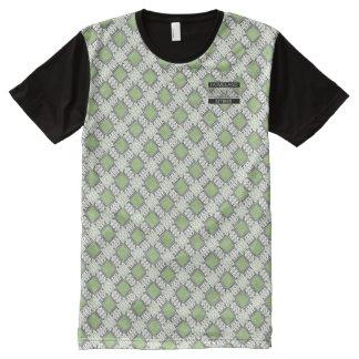 T-shirt moderne de concepteur vert de pois de