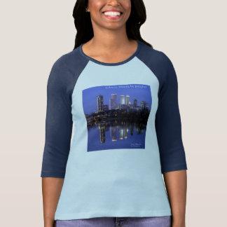 T-shirt Modes éclectiques Jazzykat de bleu marine des