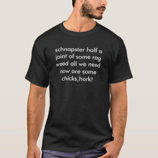 T-shirt moitié d'un joint d'une certaine mauvaise herbe