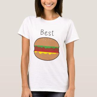 "T-shirt Moitié mignonne superbe d'hamburger de ""hamburger"