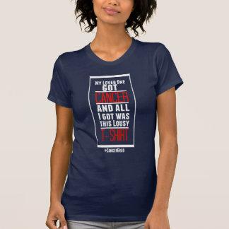 T-shirt Mon aimé a obtenu la chemise de Cancer (lettrage
