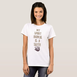 T-shirt Mon animal d'esprit est une chemise de paresse