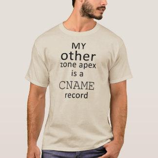 T-shirt Mon autre apex de zone est un disque de CNAME