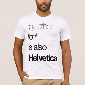 T-shirt Mon autre police (noir sur le blanc)