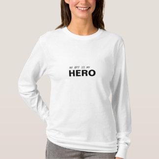 T-SHIRT MON BFF EST MON SURVIVANT DE CANCER DE HERO/BREAST