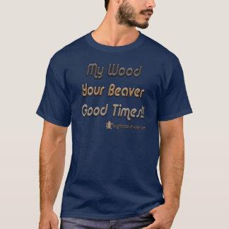 T-shirt Mon bois vos bons temps de castor