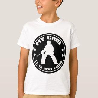T-shirt Mon but, hockey de champ (noir)