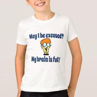 T-shirt Mon cerveau est plein !
