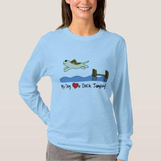 T-shirt Mon chien aime sauter de dock