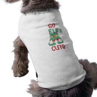 """T-shirt Mon chien est """"ainsi ELF'n mignon """""""