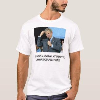 T-shirt Mon cocker est plus futé que votre président !