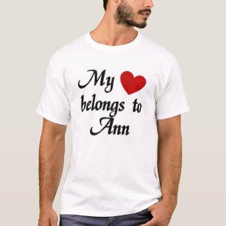T-shirt Mon coeur appartient à Ann