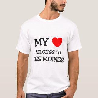 T-shirt Mon coeur appartient à DES MOINES