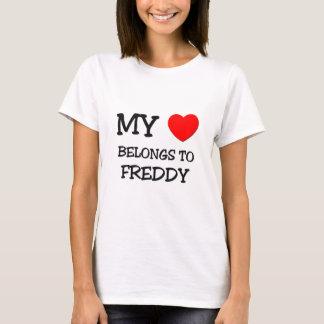 T-shirt Mon coeur appartient à Freddy