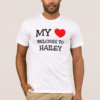 T-shirt Mon coeur appartient à HAILEY
