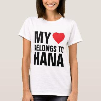 T-shirt Mon coeur appartient à Hana