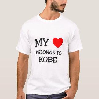 T-shirt Mon coeur appartient à Kobe