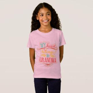 T-Shirt Mon coeur appartient à la grand-maman