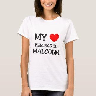 T-shirt Mon coeur appartient à Malcolm