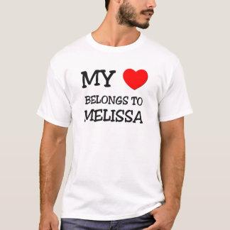 T-shirt Mon coeur appartient à MELISSA