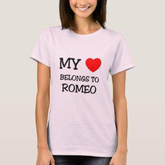 T-shirt Mon coeur appartient à Romeo