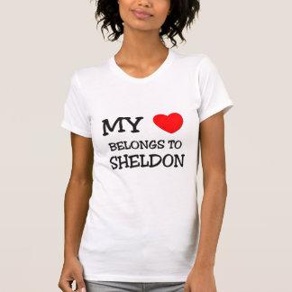 T-shirt Mon coeur appartient à Sheldon