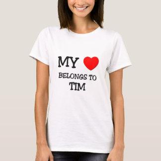 T-shirt Mon coeur appartient à Tim