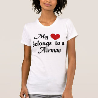 T-shirt Mon coeur appartient à un aviateur