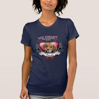 T-shirt Mon coeur appartient à un beagle