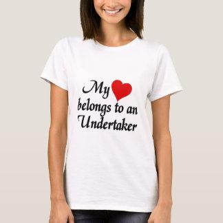 T-shirt Mon coeur appartient à un entrepreneur