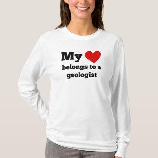 T-shirt Mon coeur appartient à un géologue