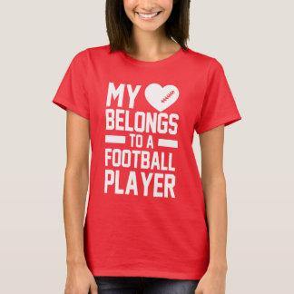 T-shirt mon coeur appartient à un joueur de football