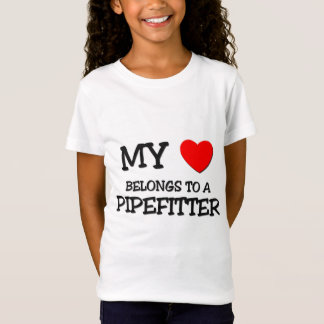 T-Shirt Mon coeur appartient à un PIPEFITTER